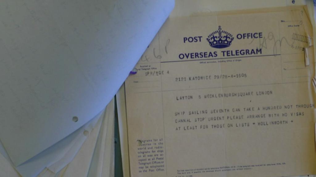Telegram od československých uprchlíků adresovanaý Clare Hollingworthové