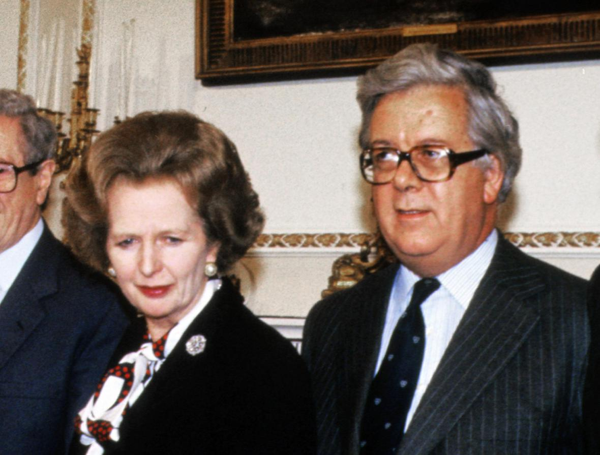 Margaret Thatcherová a Geoffrey Howe (1985)