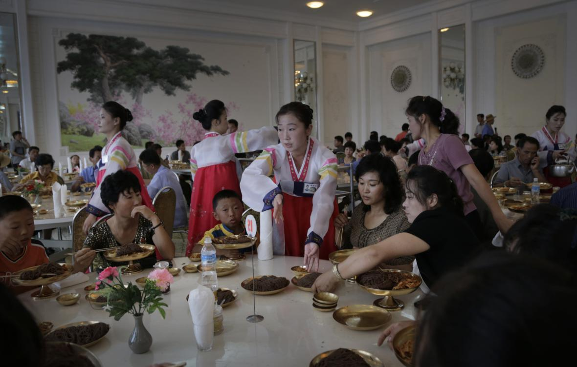 Oblíbená restaurace v Pchjongjangu