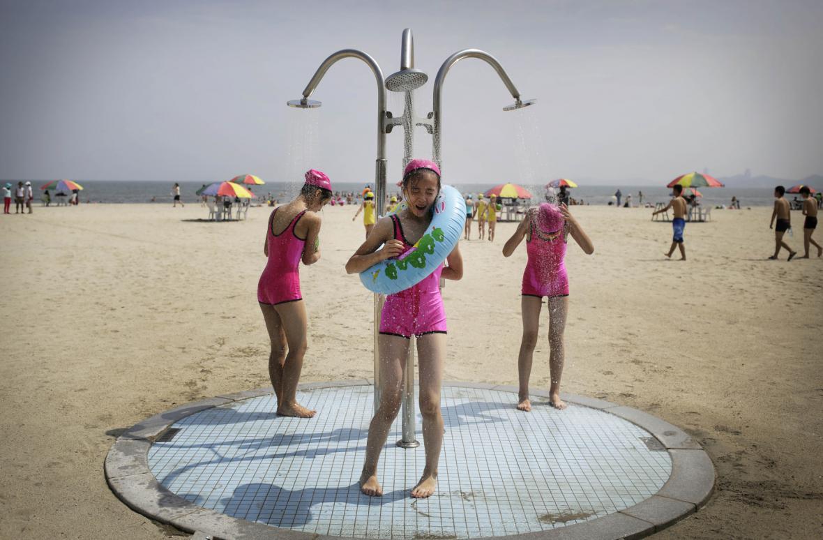 Severokorejský dětský tábor na pobřeží
