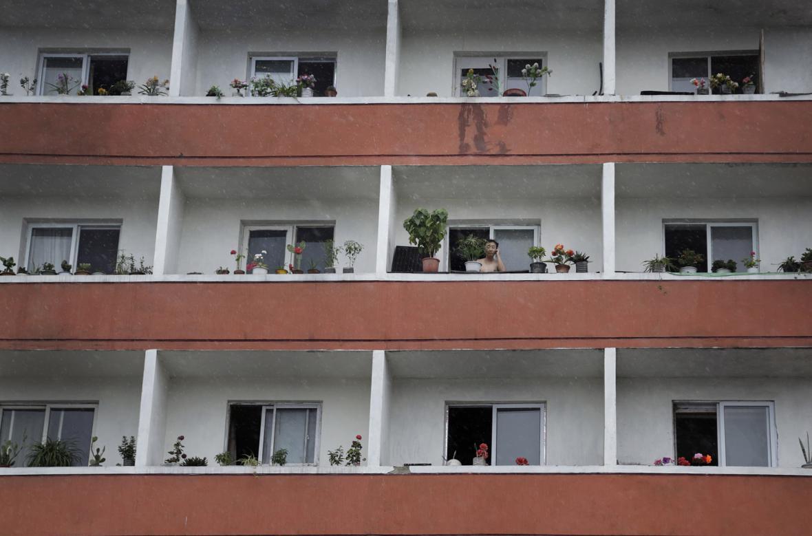 Obytný dům v Pchjongjangu