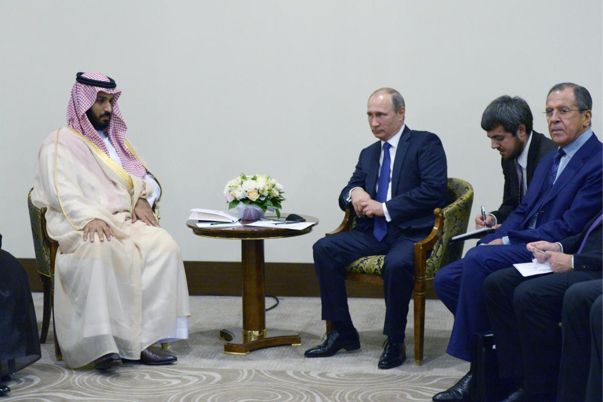 Vladimir Putin na jednání se Saúdy