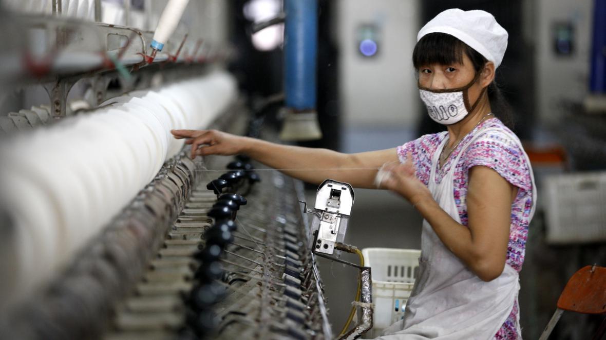 Textilní továrna v čínské prefektuře Chuaj-pej