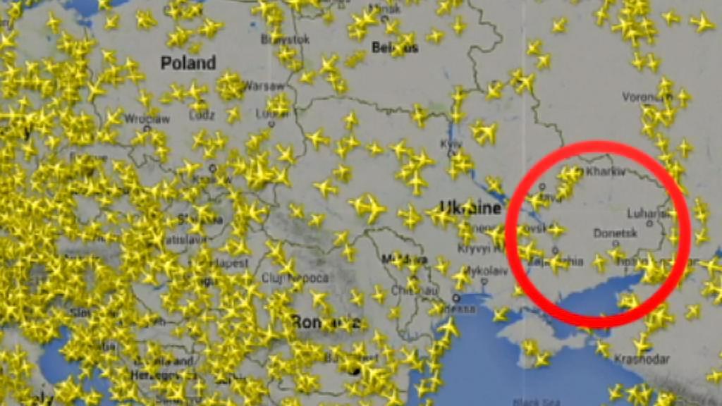 Letecký provoz nad Evropou v době tragédie letu MH17