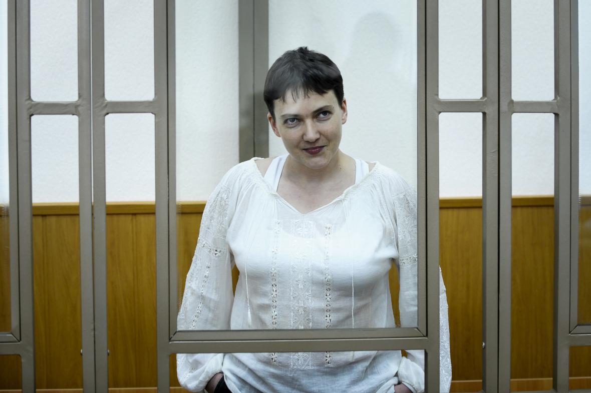 Naděžda Savčenková před soudem