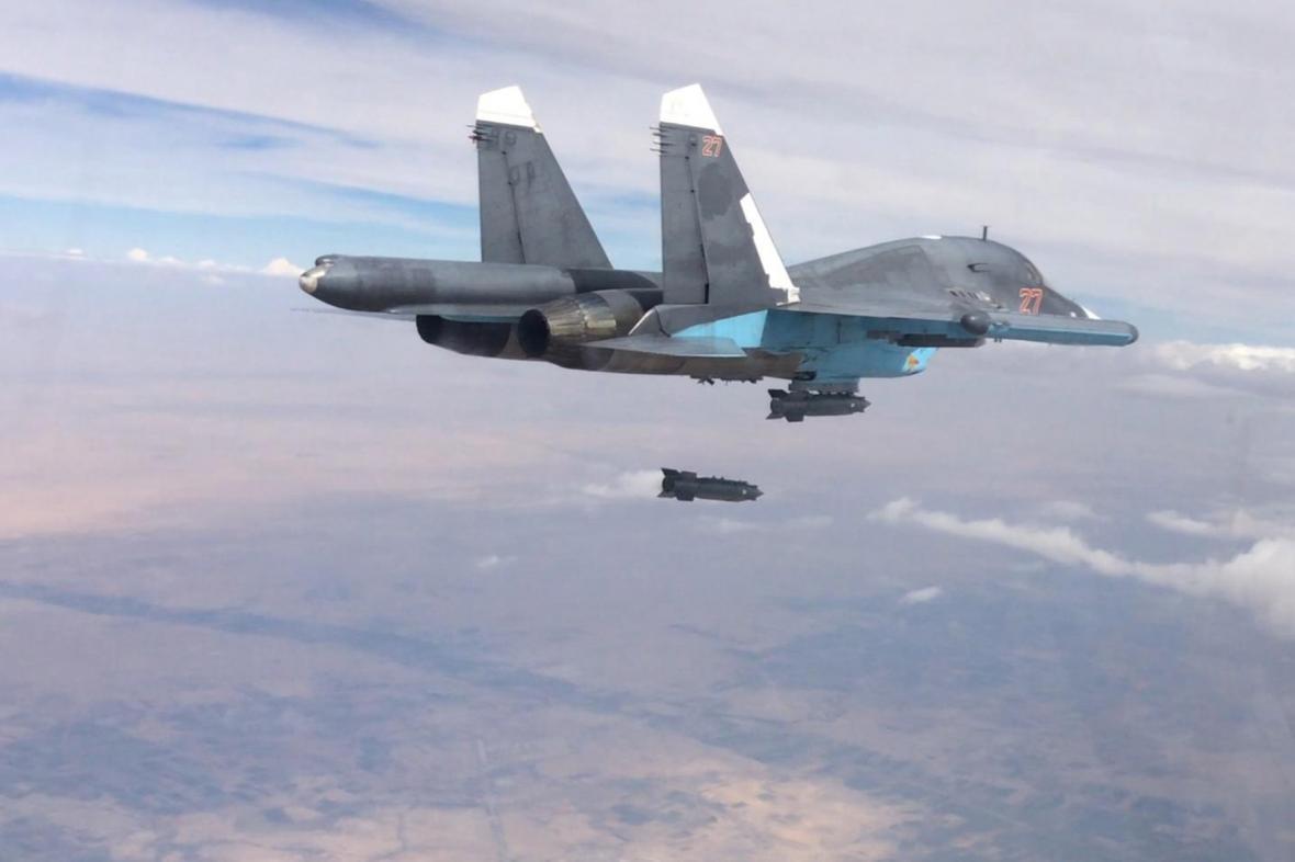 Ruský letoun nad Sýrií