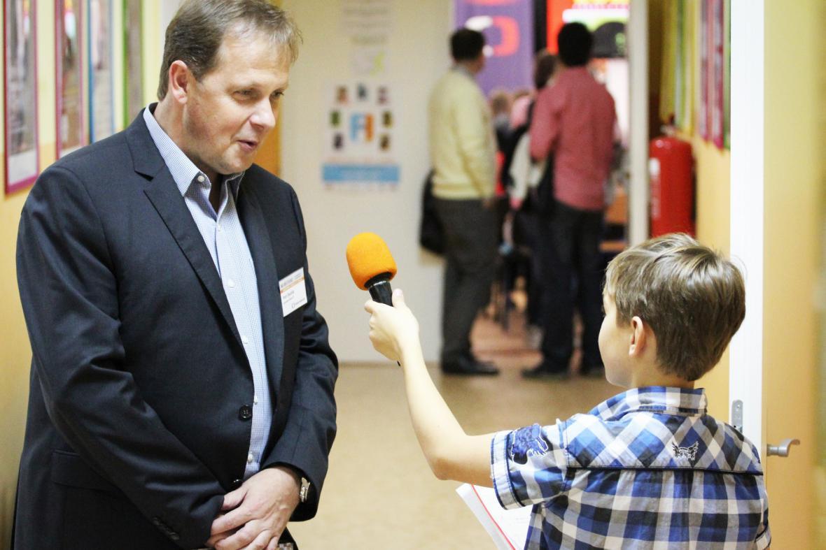 Generální ředitel ČT Petr Dvořák na akci Jak se dělá televize v roce 2012
