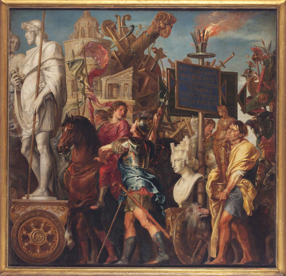 Peter Paul Rubens a Erasmus II. Quellinus/ z cyklu Césarův triumf