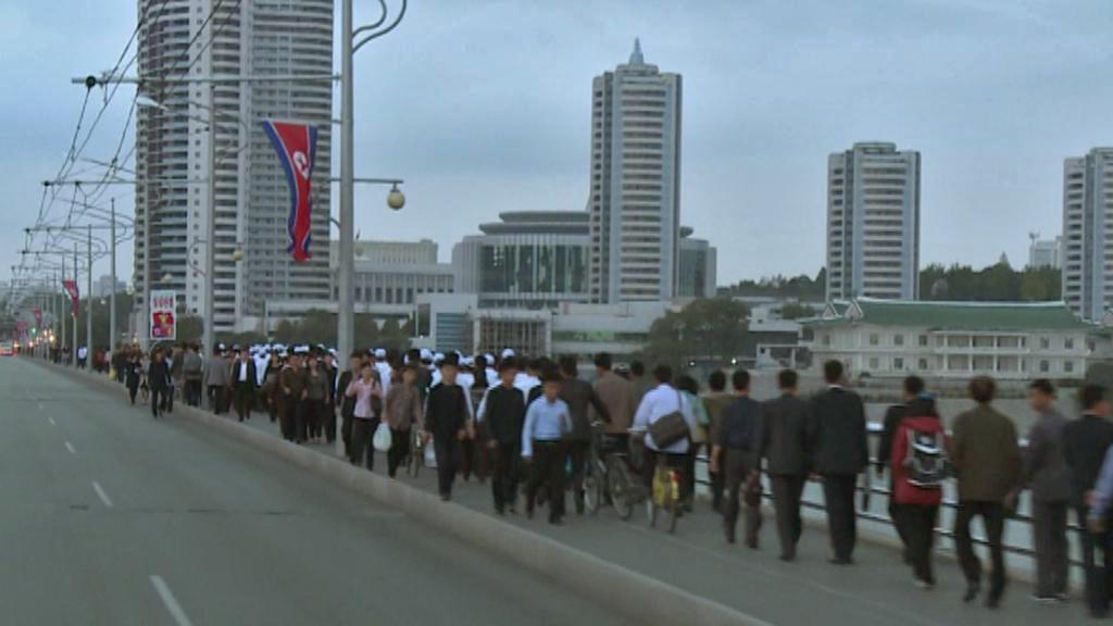Za Kim Čong-unovy vlády vyrostly v Pchjongjangu budovy pro prominenty
