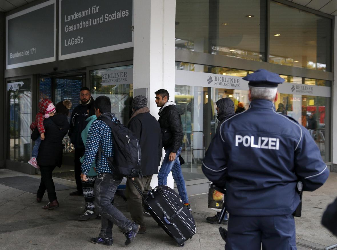 Registrace uprchlíků v Berlíně
