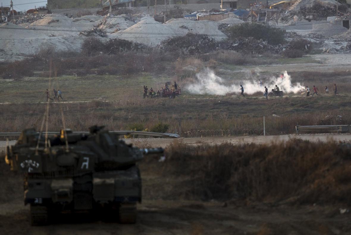 Střety mezi Palestinci a izraelskou armádou