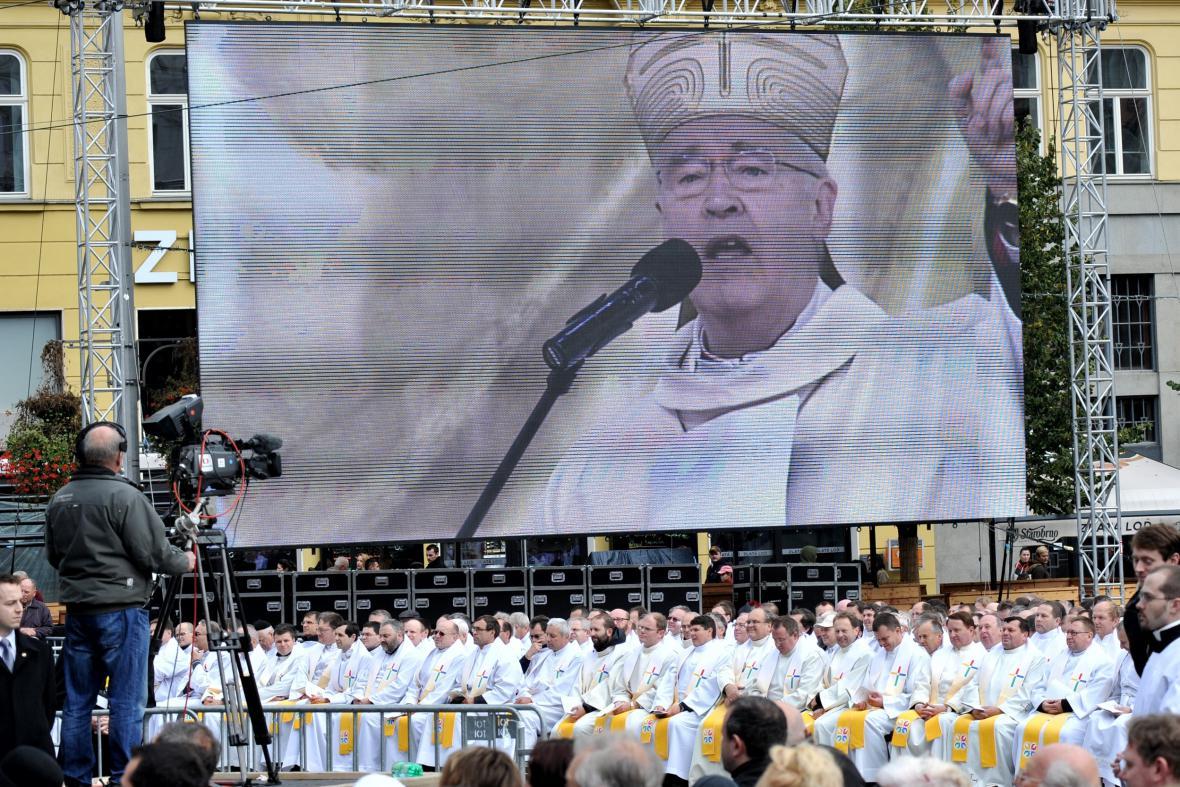 Mše za účasti všech biskupů českých a moravských diecézí