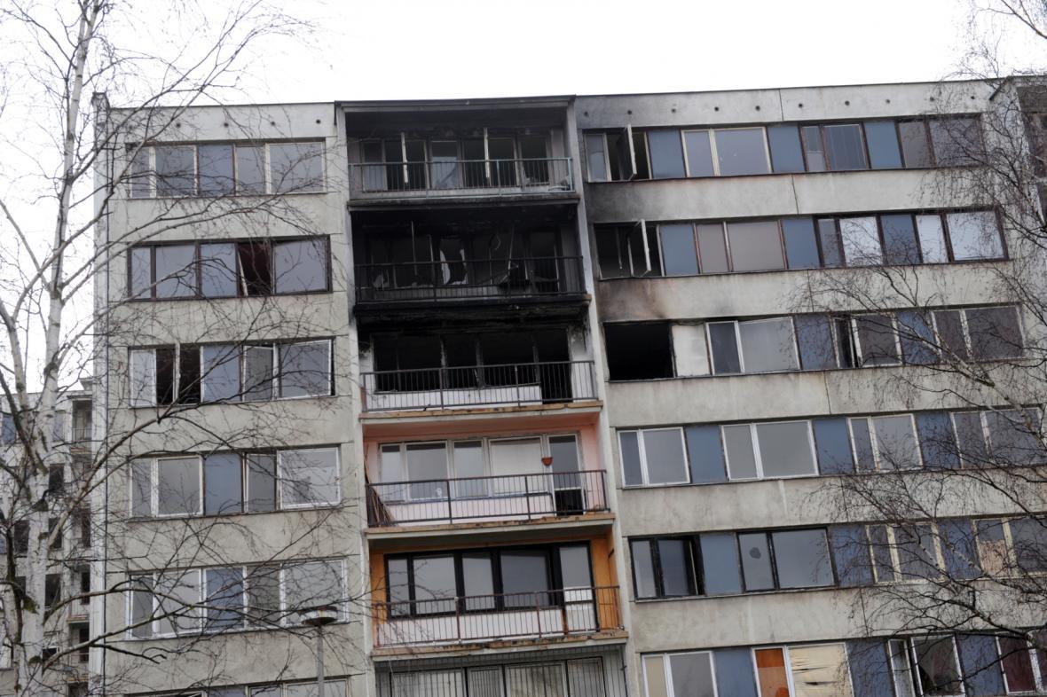 Sídliště Janov, vypálené byty
