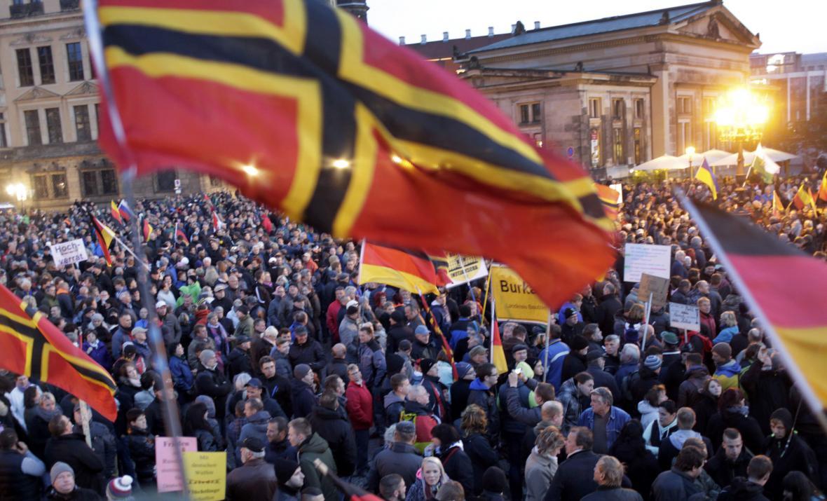 Demonstrace hnutí Pegida