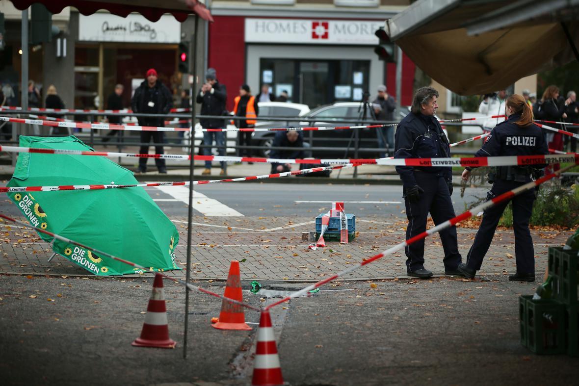 Místo útoku v centru Kolína