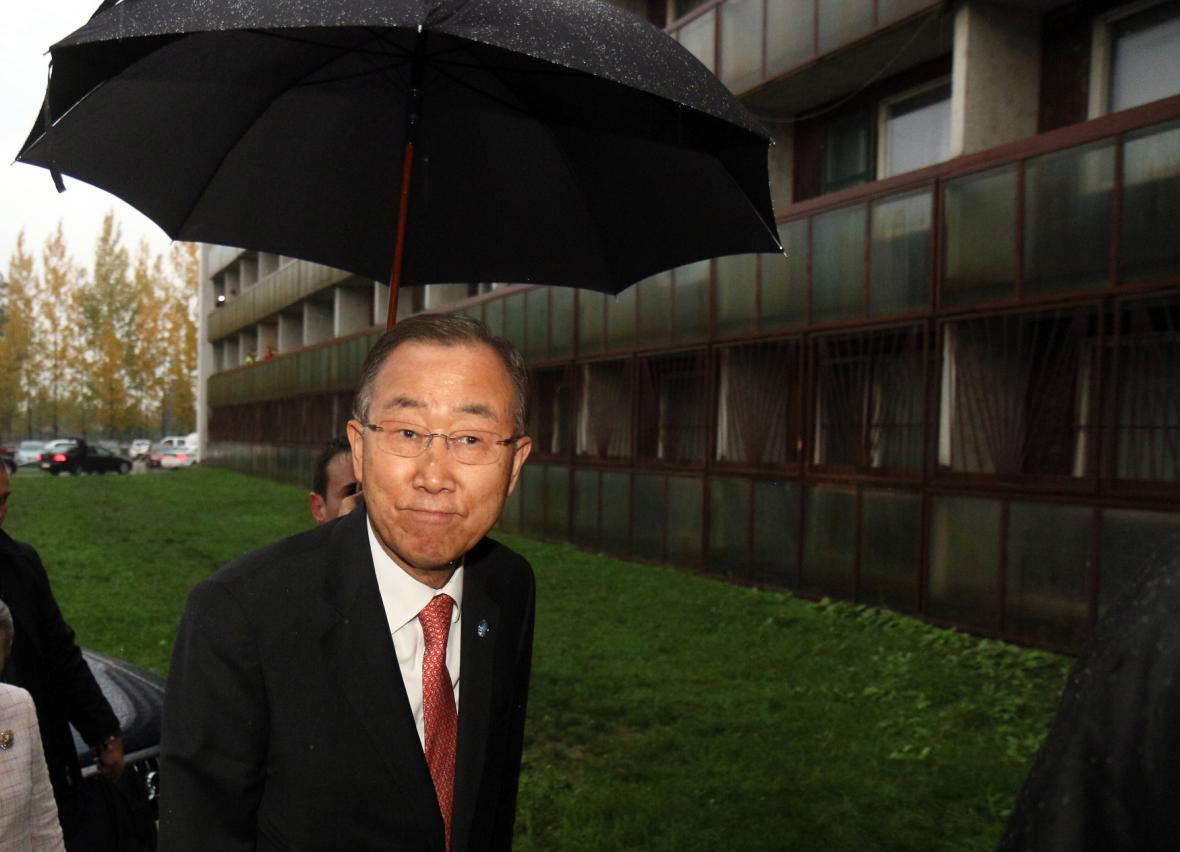 Pan Ki-mun zavítal do ubytoven v Gabčíkovu
