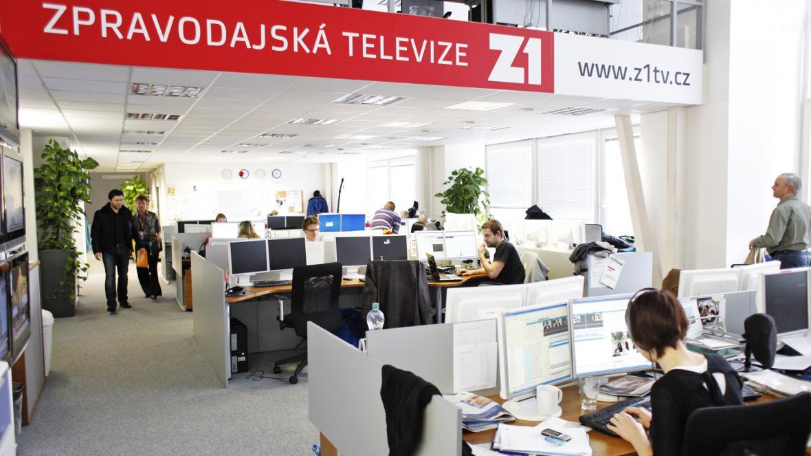 Bývalý newsroom televize Z1 v pražských Holešovicích