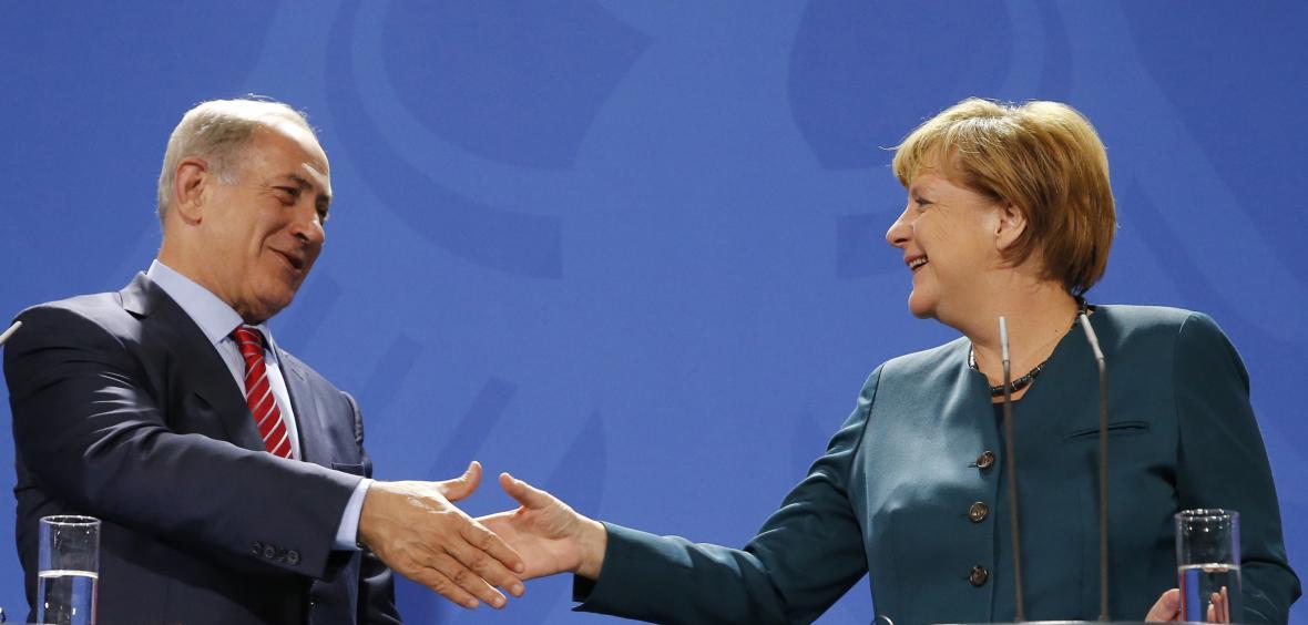 Benjmain Netanjahu se v Berlíně sešel s Angelou Merkelovou