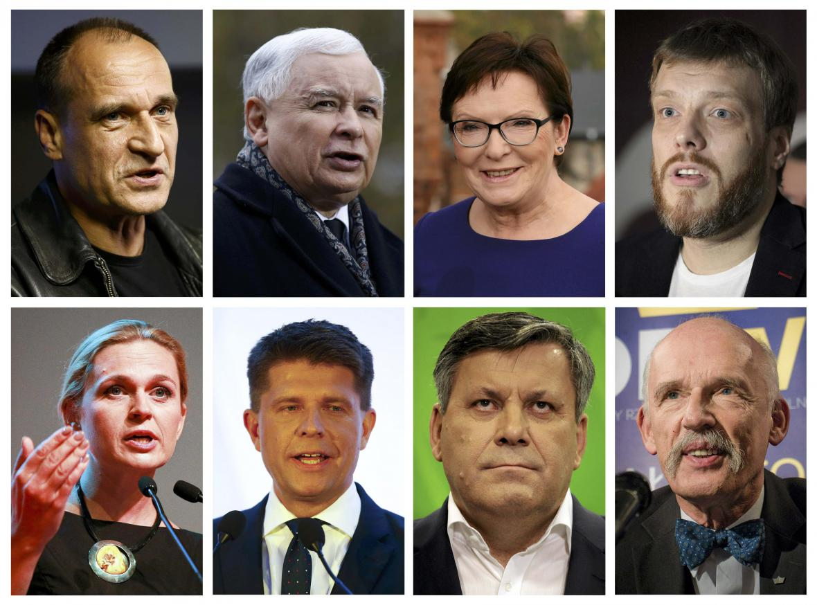 Šéfové polských politických stran