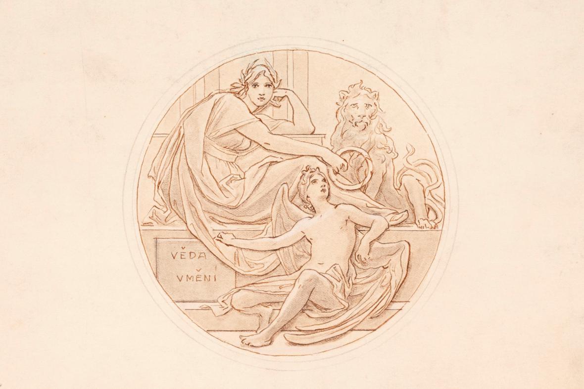 Maxmilián Pirner, Návrh medaile České akademie věd a umění, 1891