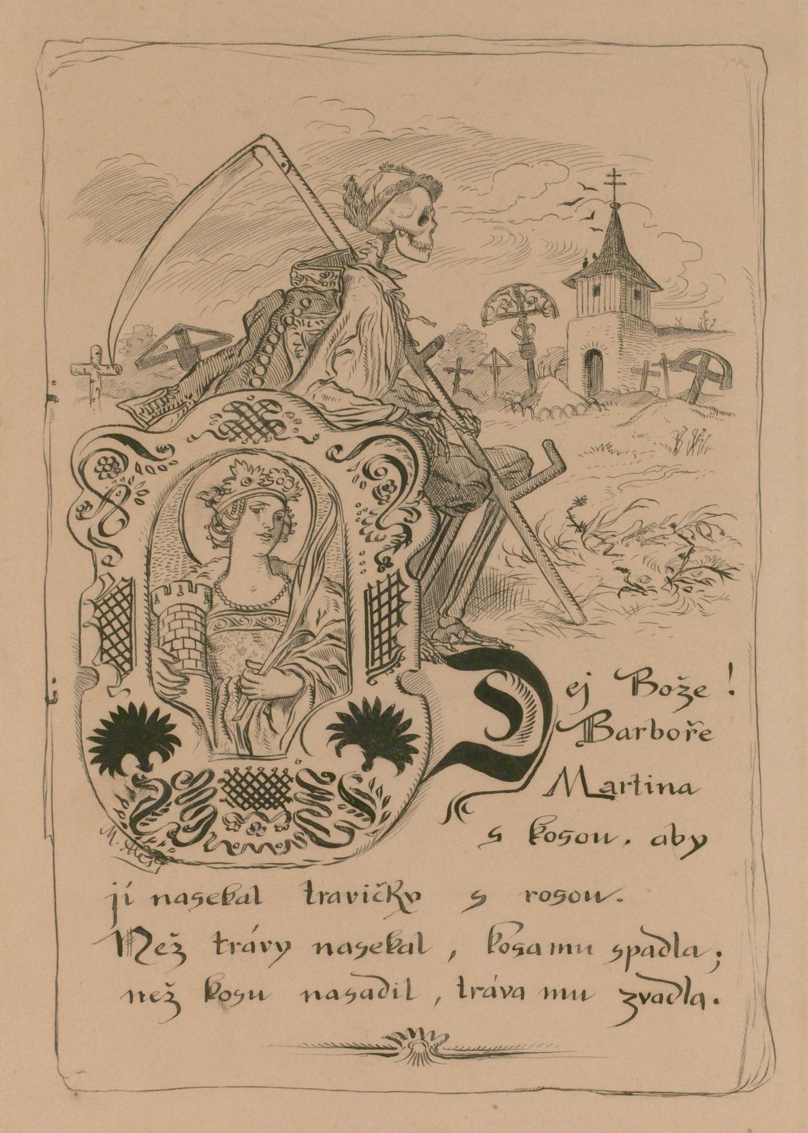 Mikoláš Aleš, ilustrace k říkadlu, 1890