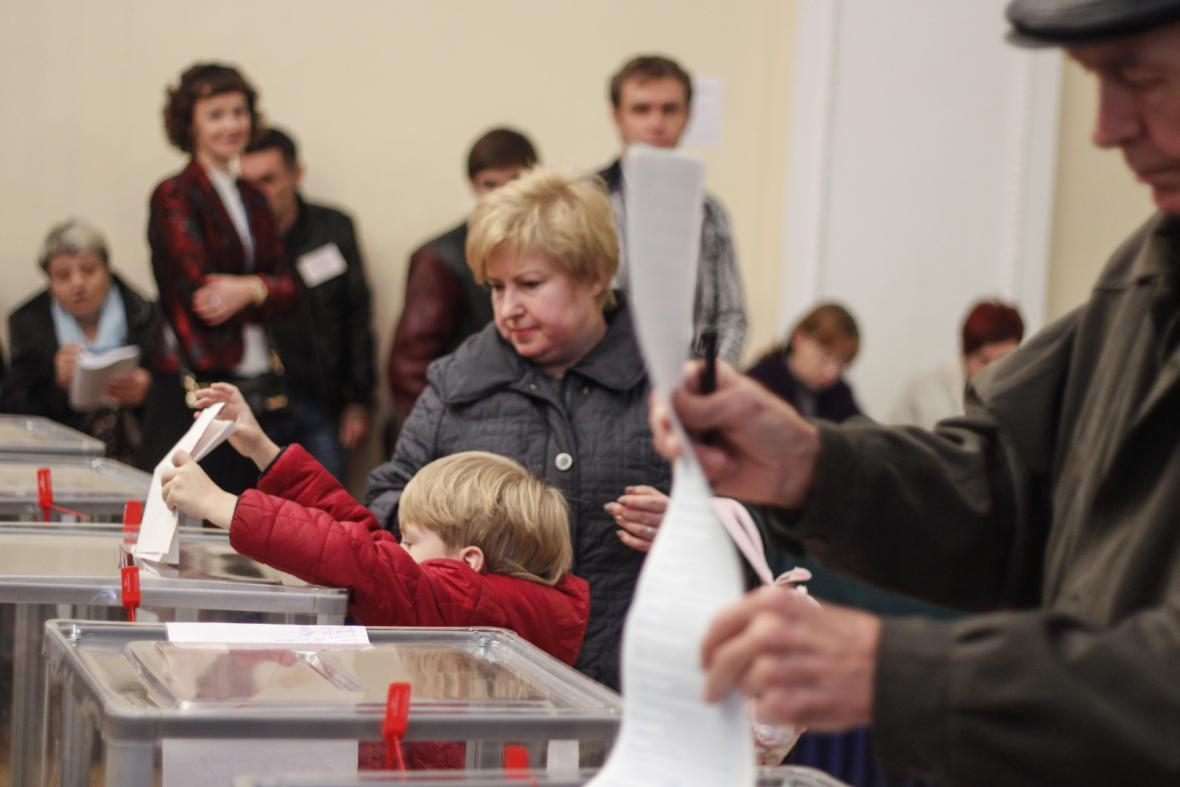 Volební místnost v Kyjevě