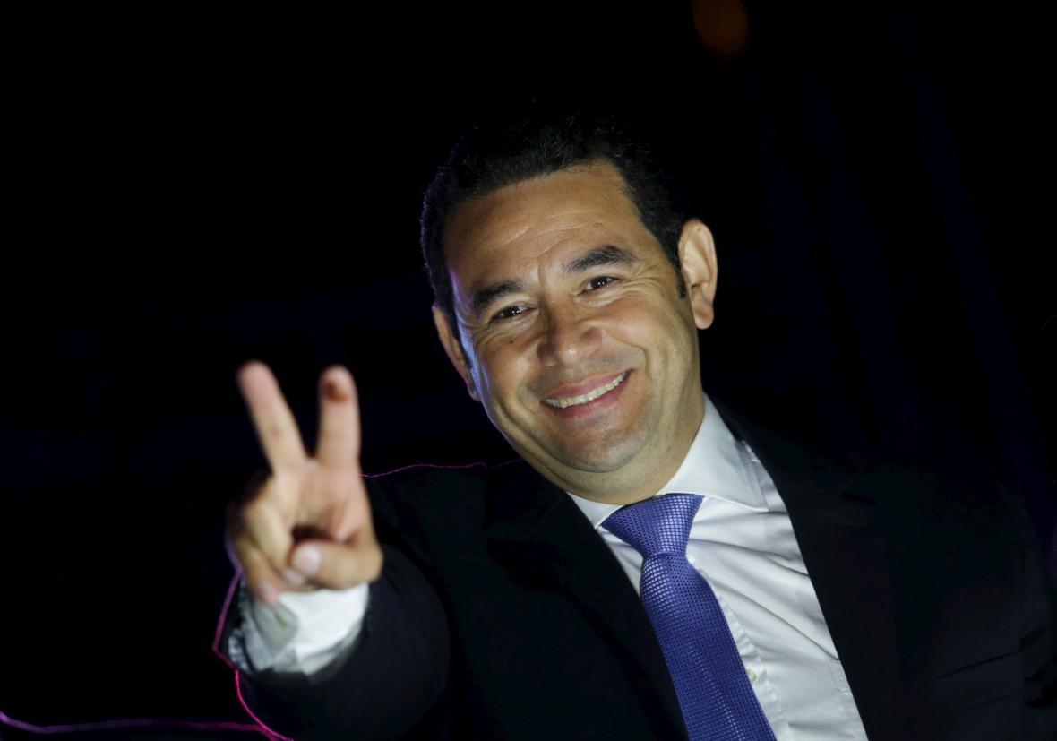 Nový guatemalský prezident Jimmy Morales