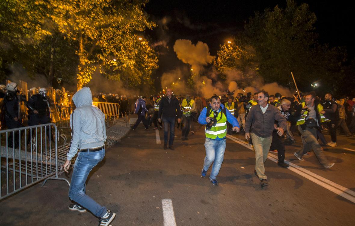Protesty v Podgorici