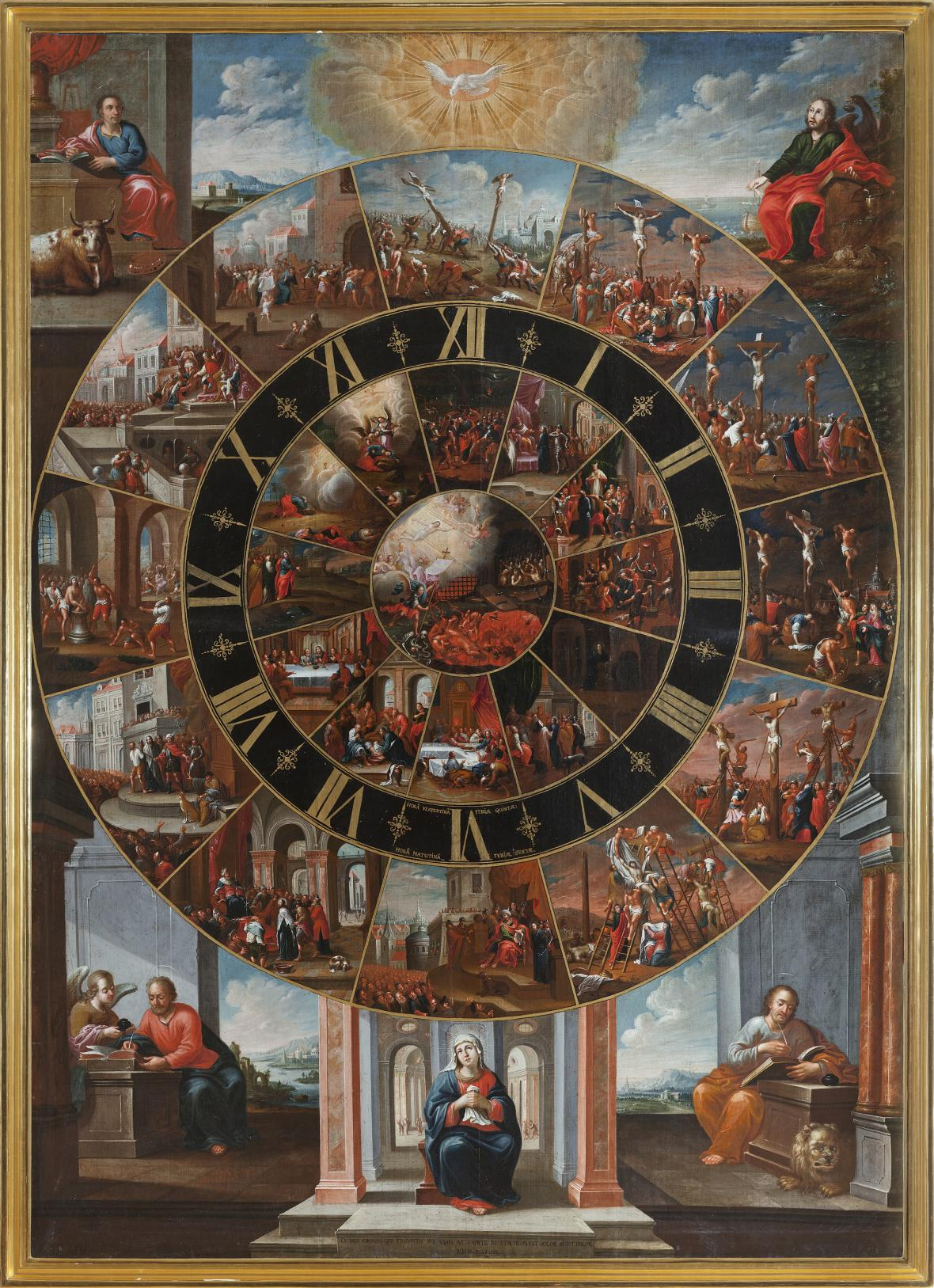 Eliáš Dollhopf / Pašijové hodiny, 1734