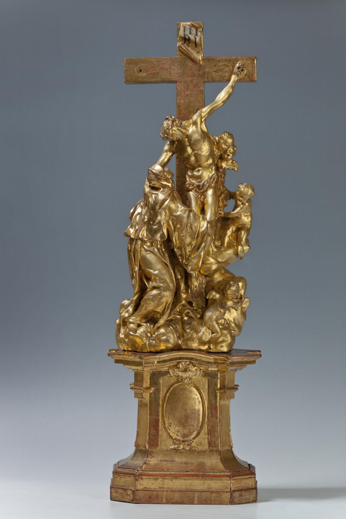 Matyáš Bernard Braun / Vidění svaté Luitgardy, kolem 1710