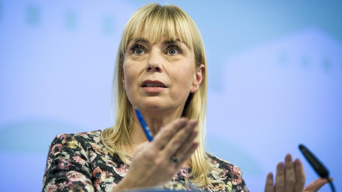 Eurokomisařka pro  vnitřní trh a služby Elžbieta Bieńkowská