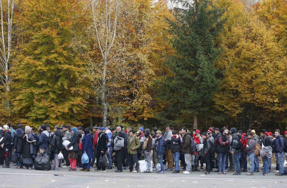 Uprchlíci na rakousko-slovinské hranici