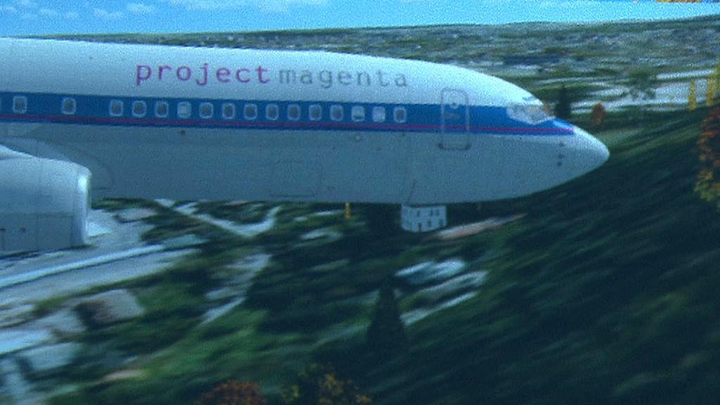 Simulace nárazu letadla do země