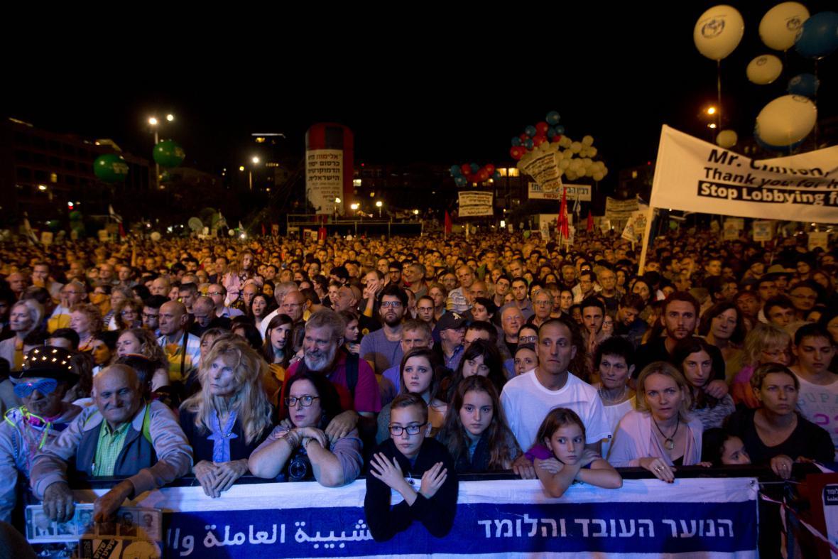 Pietní shromáždění připomnělo atentát na Jicchaka Rabina
