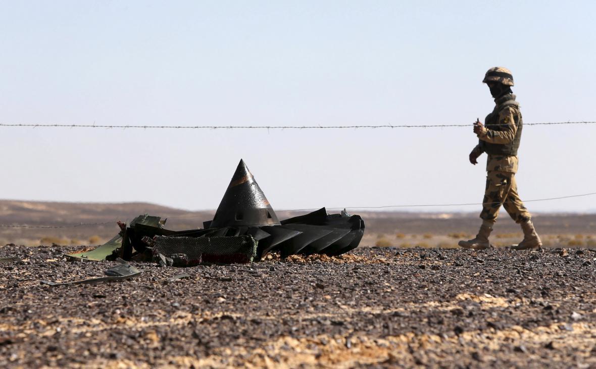 Oblast dopadu trosek hlídá egyptská armáda
