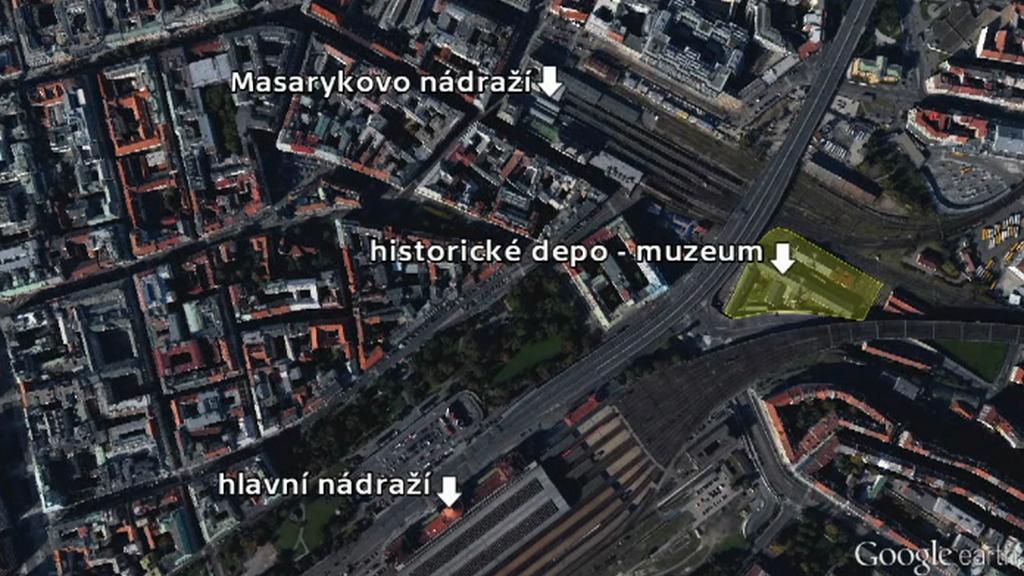 Historické depo - muzeum poblíž Masarykova nádraží v Praze