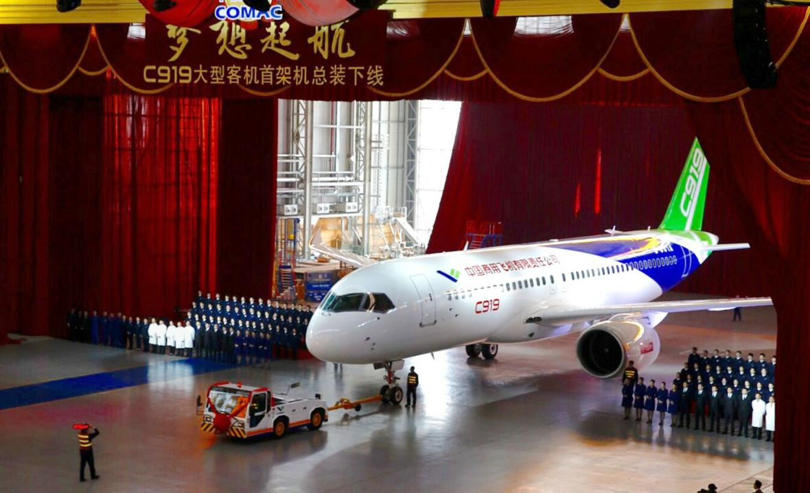 Čínské letadlo