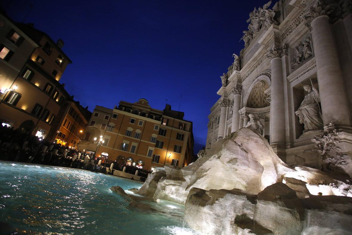 Opravené fontána di Trevi