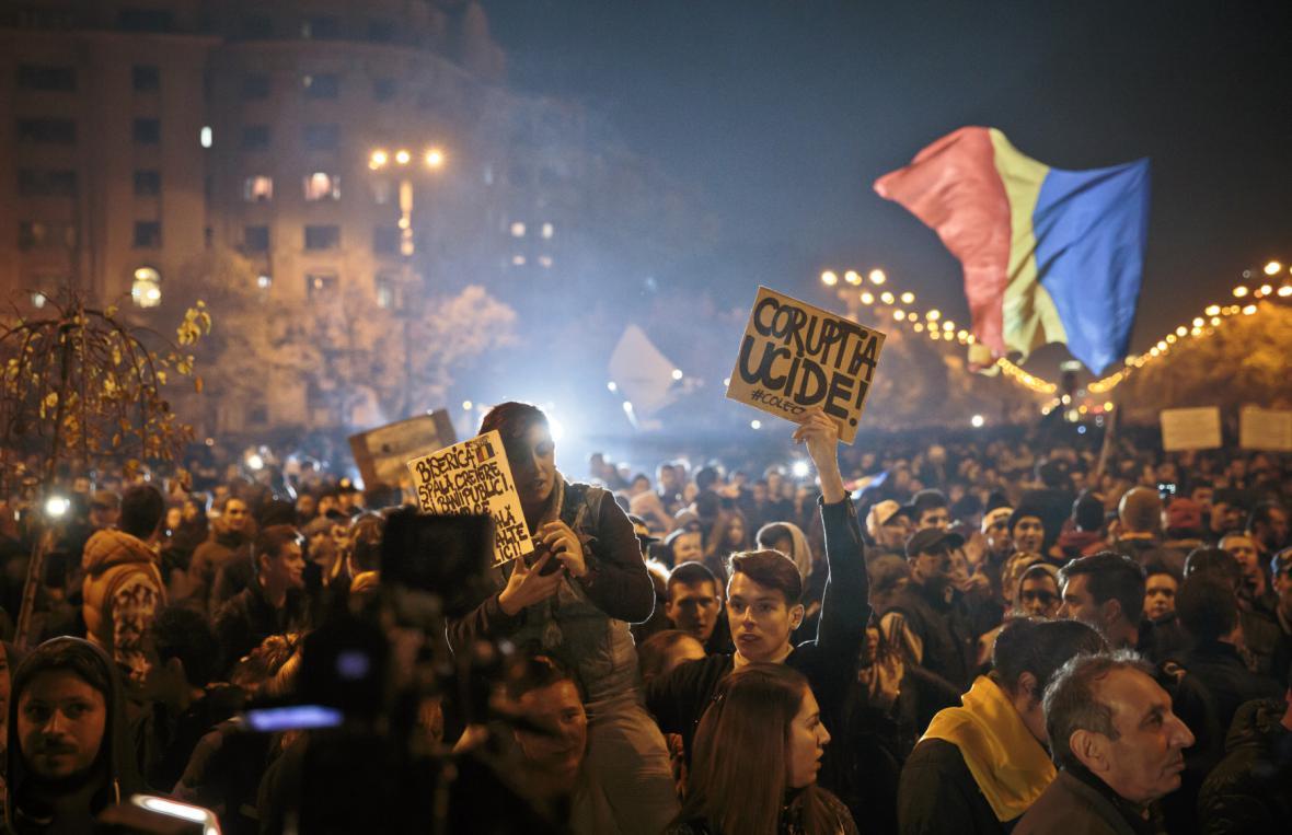 Demonstrace v Bukurešti