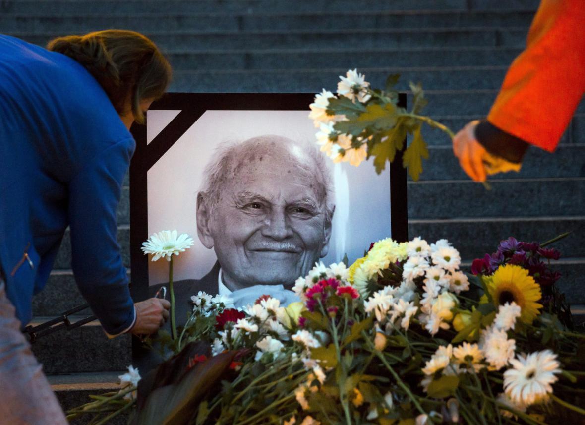 Pietní místo k úmrtí Árpáda Göncze