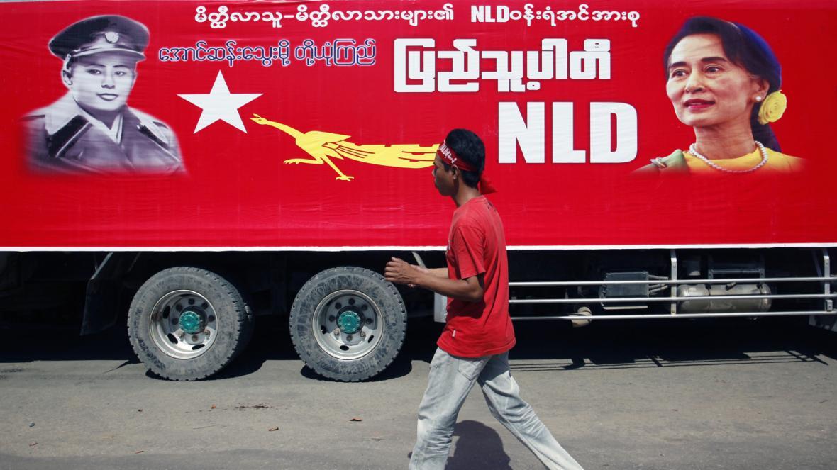 Předvolební kampaň v Barmě