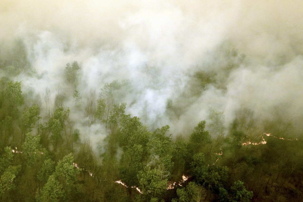 Požáry v Indonésii