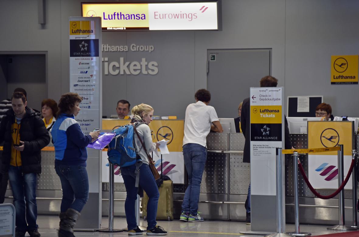 Cestující Lufthansy