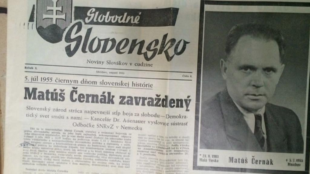 Zpráva o smrti Matúše Černáka v tisku