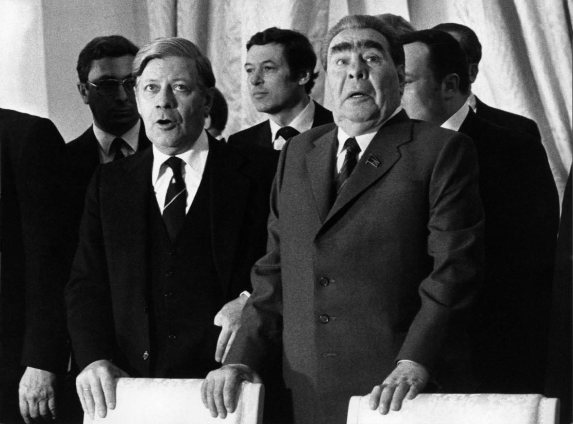 Helmut Schmidt a Leonid Brežněv