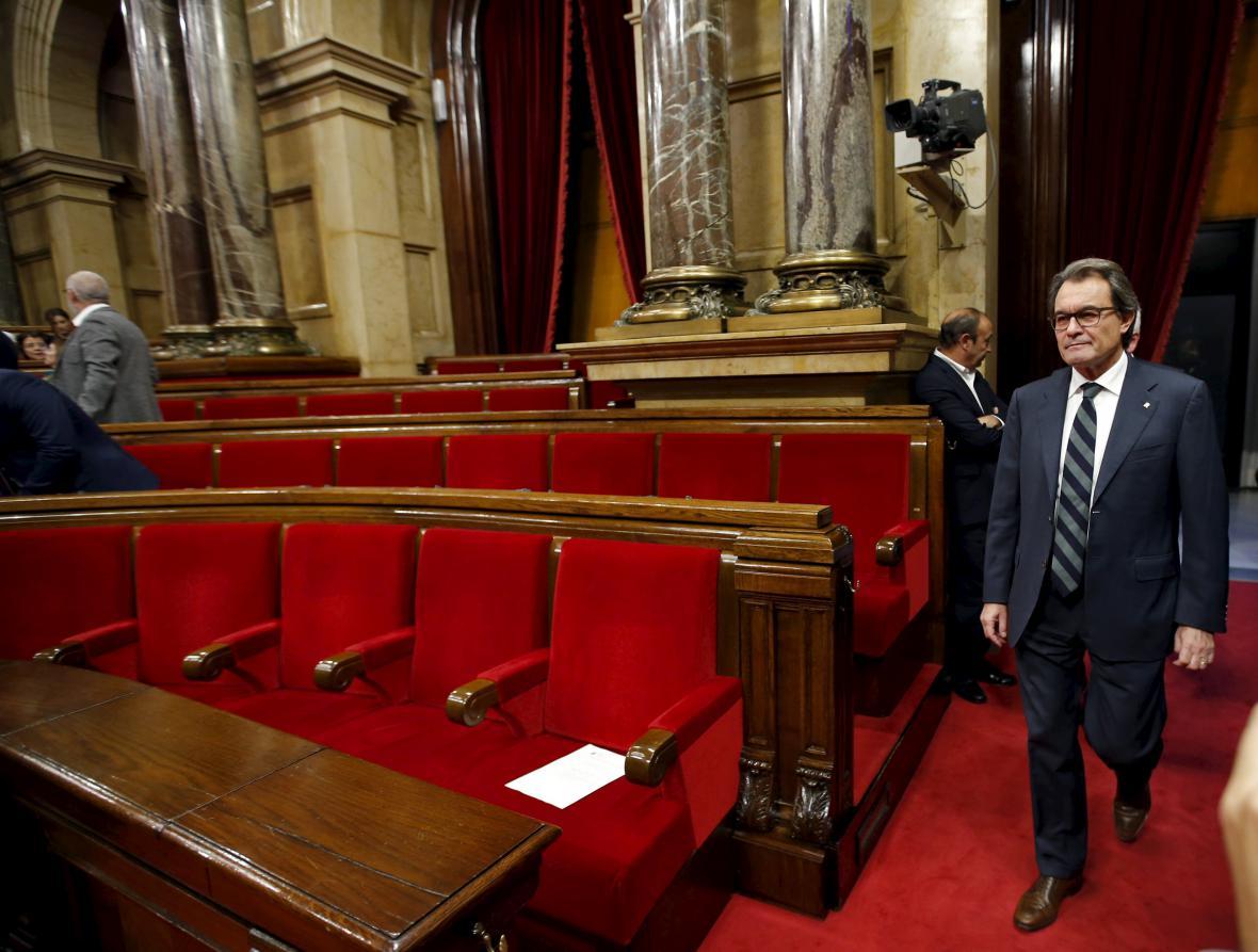 Katalánský prezident Artur Mas
