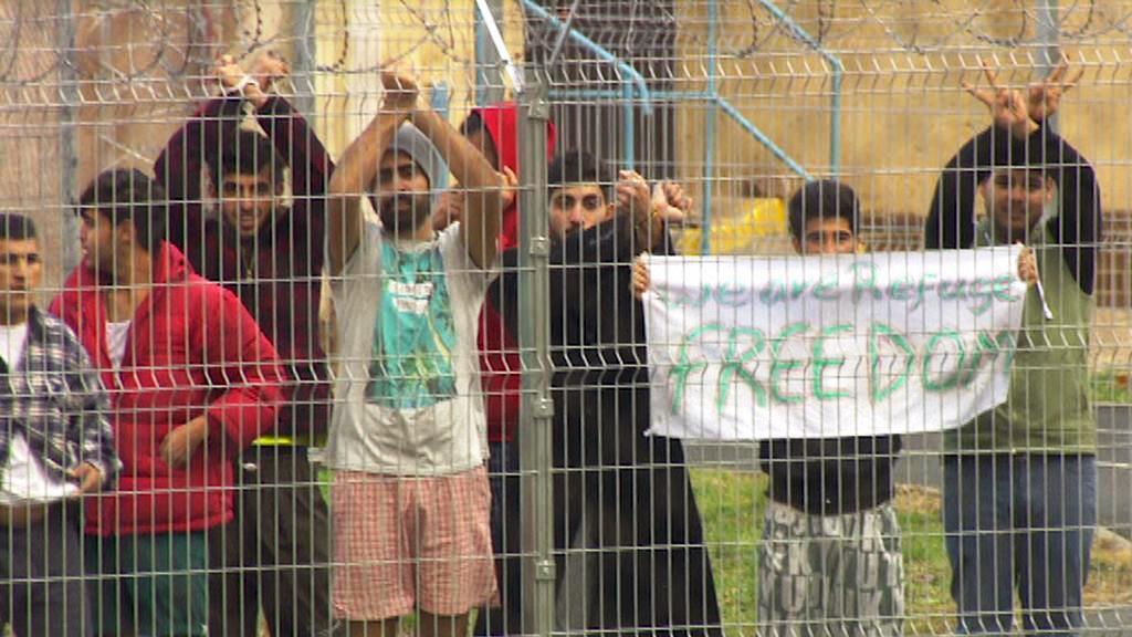 Migranti v Drahonicích
