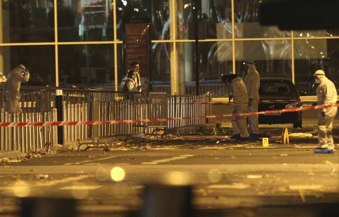 Místo útoku u stadionu v Saint Denis