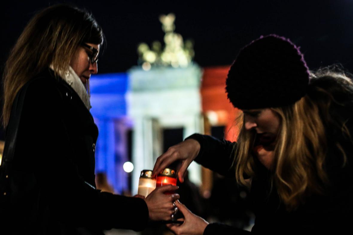 Berlín ve francouzských národních barvách