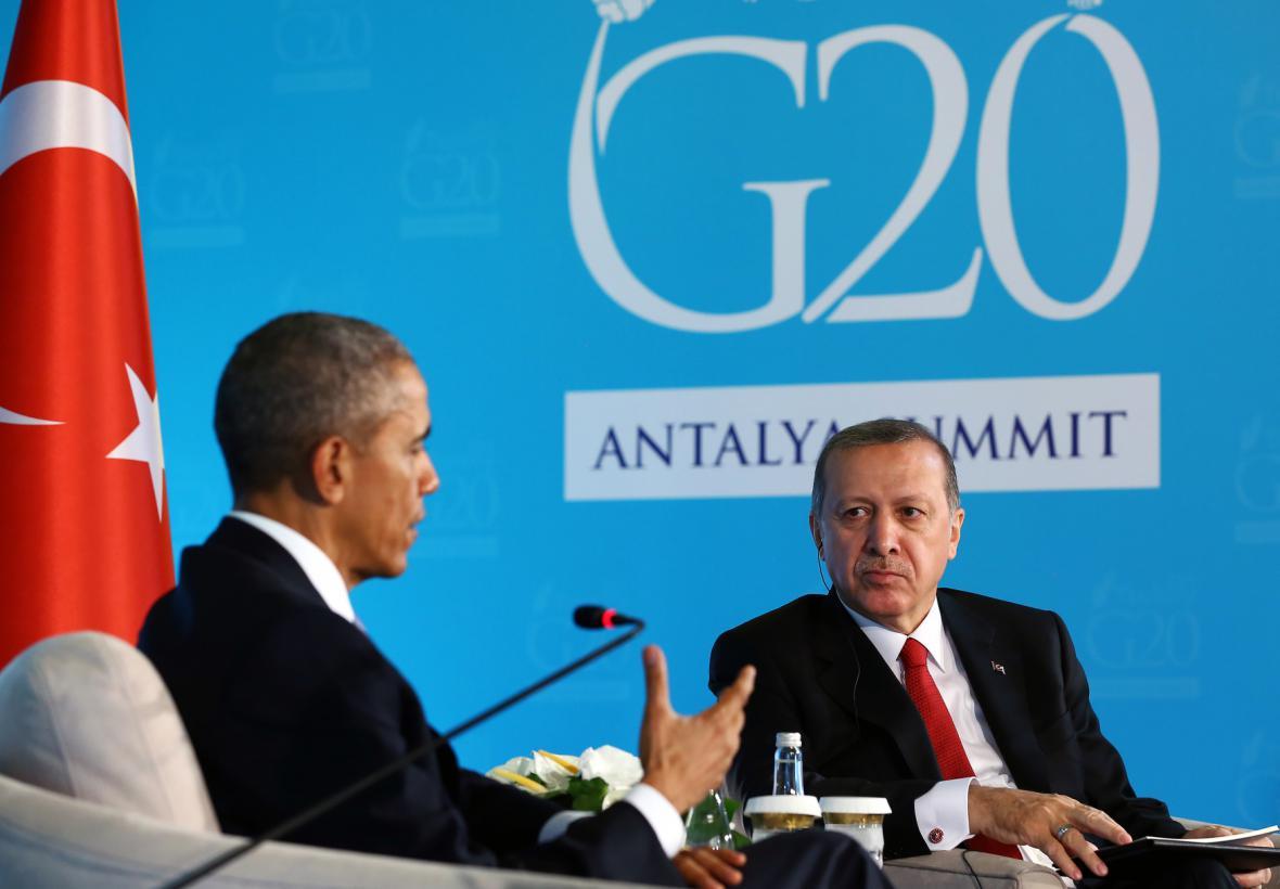 Barack Obama se svým tureckým protějškem Erdoganem